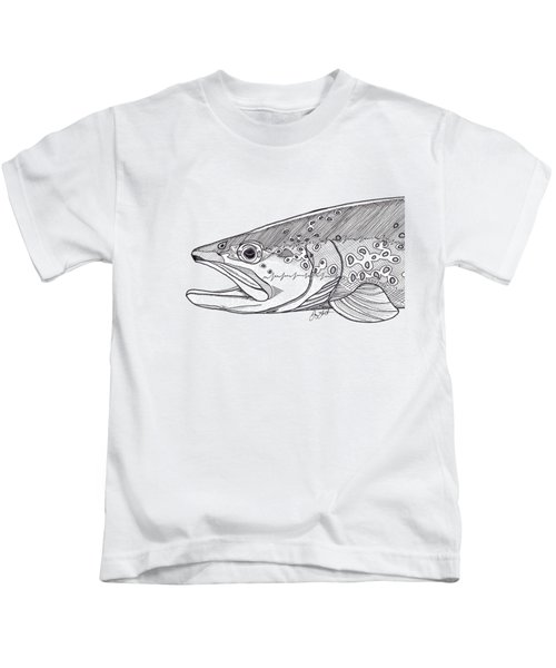 Brown Trout Kids T-Shirt by Jay Talbot