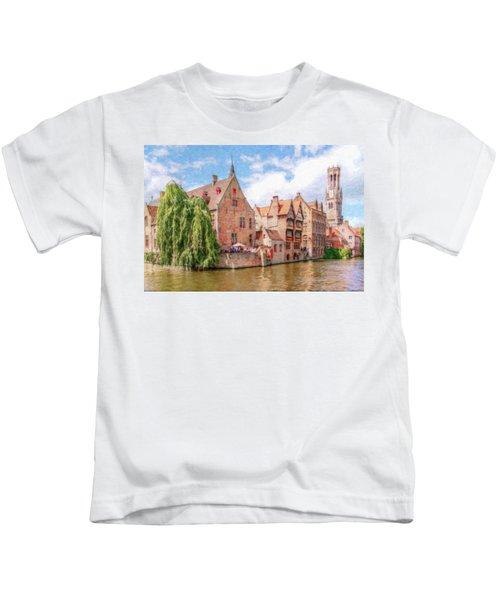 Bruges Canal Belgium Dwp-2611575 Kids T-Shirt