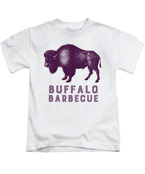 Buffalo Barbecue Kids T-Shirt by Antique Images