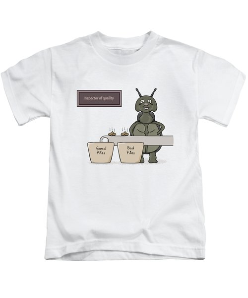 Bug As A Inspector Of Quality Kids T-Shirt