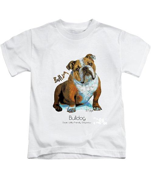 Bulldog Pop Art Kids T-Shirt