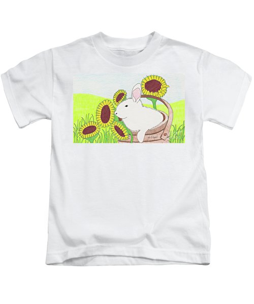 Bunny In A Basket Kids T-Shirt