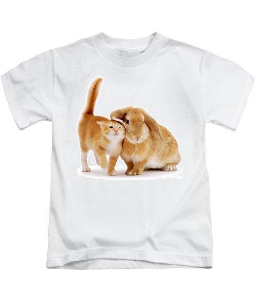 Bunny Rubbing Kids T-Shirt