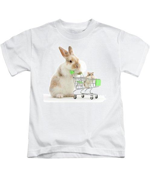 Bunny Shopping Kids T-Shirt