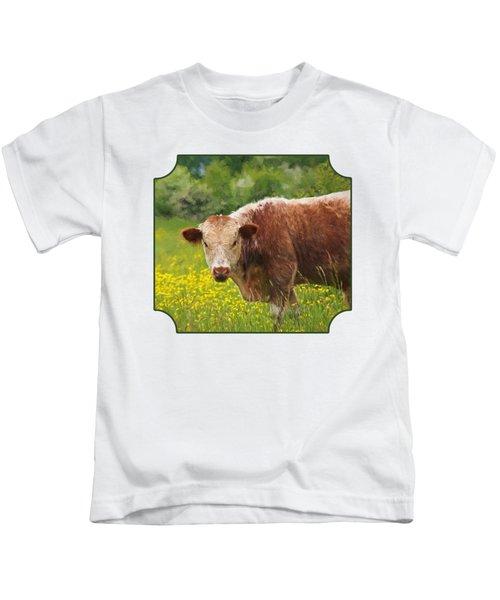 Buttercup - Brown Cow Kids T-Shirt