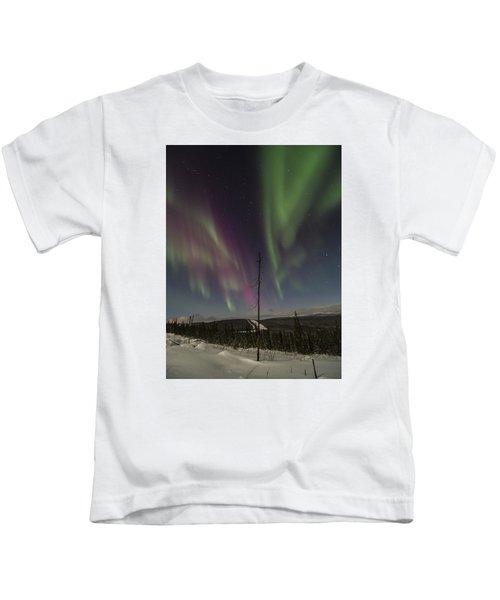 Butterfly Aurora Kids T-Shirt
