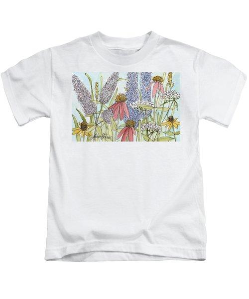 Butterfly Bush In Garden Kids T-Shirt