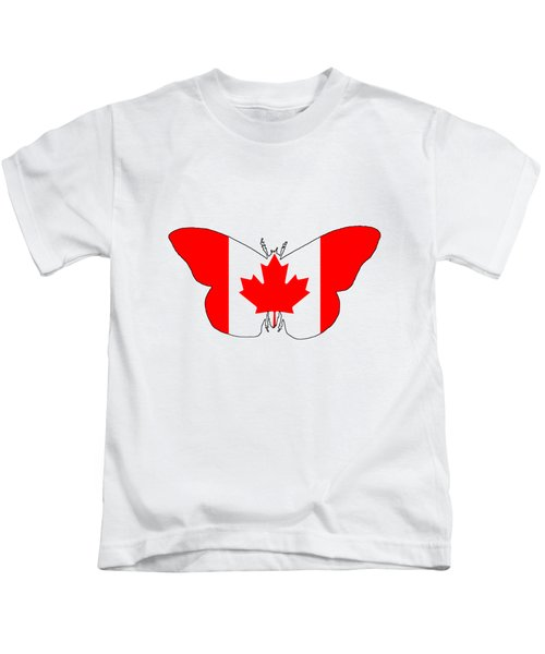 Butterfly Canada  Kids T-Shirt by Mordax Furittus