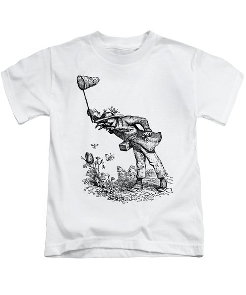 Butterfly Hunting Grandville Transparent Background Kids T-Shirt