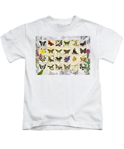 Butterfly Maps Kids T-Shirt