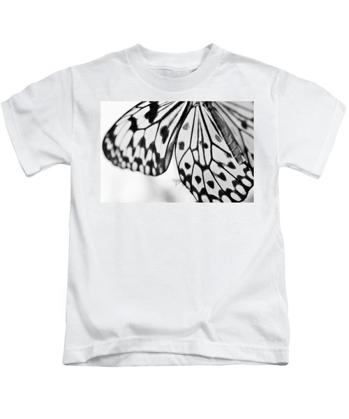 Butterfly Wings 3 - Black And White Kids T-Shirt