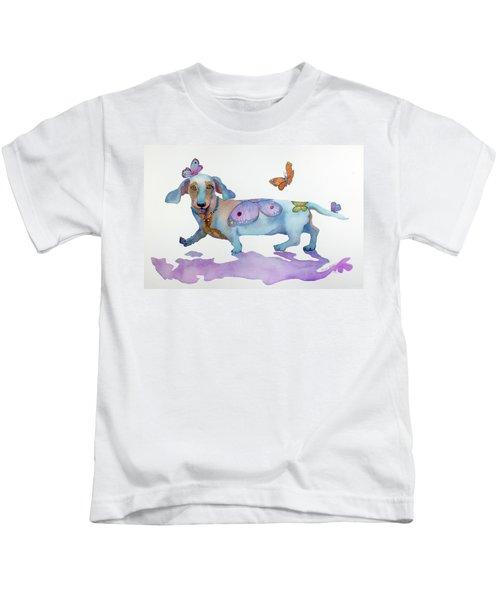 Butterfly Doxie Doo Kids T-Shirt