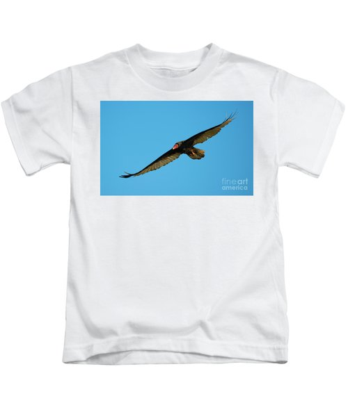 Buzzard Circling Kids T-Shirt by Mike Dawson