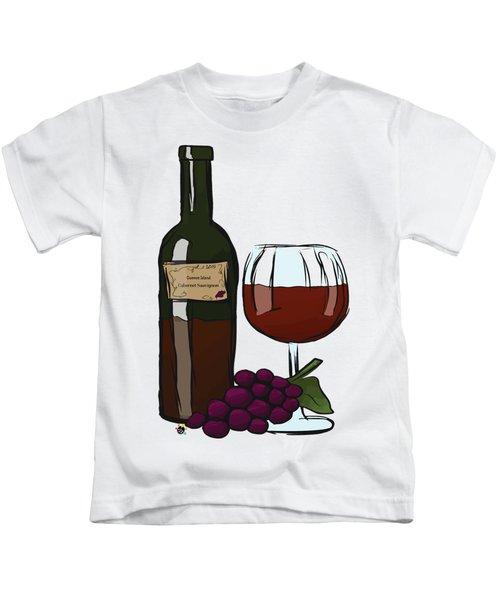 Cabernet Sauvignon Kids T-Shirt by Devon LeBoutillier