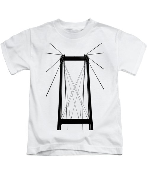 Cable Bridge Abstract Kids T-Shirt