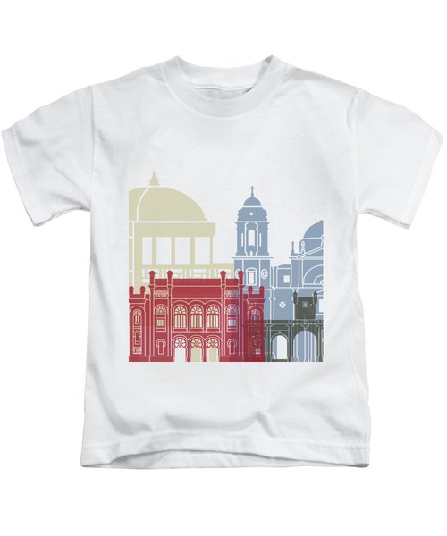 Cadiz Skyline Poster Kids T-Shirt