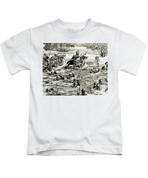 Caesar's Legions Crossing The Thames Kids T-Shirt