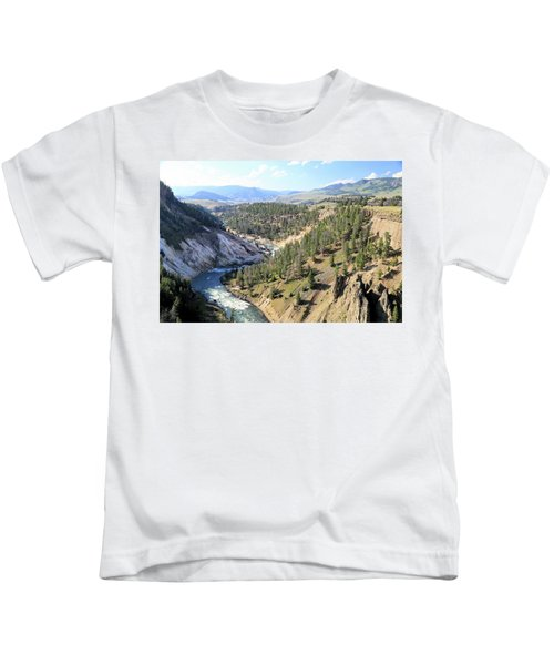 Calcite Springs Along The Bank Of The Yellowstone River Kids T-Shirt