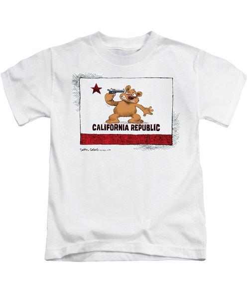 California Budget Suicide Kids T-Shirt