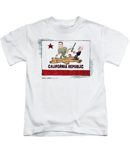 California Governor Handoff Kids T-Shirt