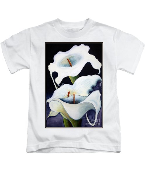 Calla Lilies.. Kids T-Shirt