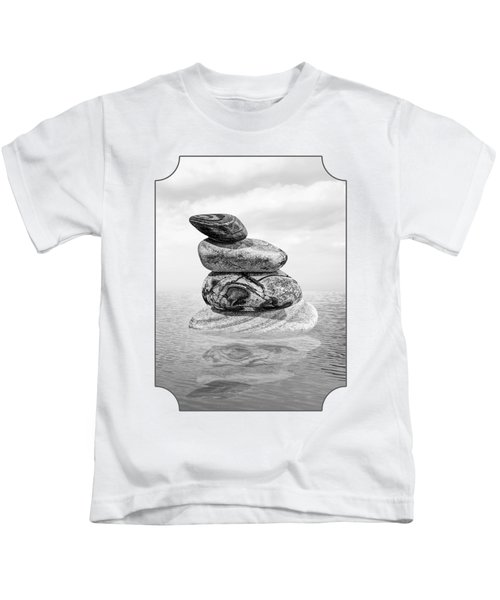 Calm Waters In Black And White Kids T-Shirt