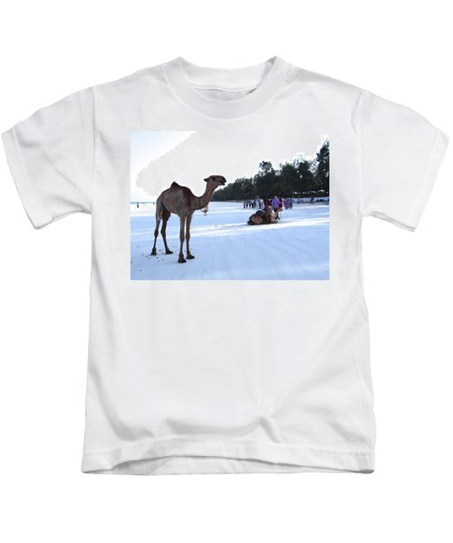 Camel On Beach Kenya Wedding 5 Kids T-Shirt