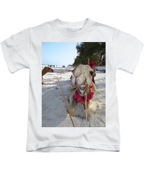 Camel On Beach Kenya Wedding2 Kids T-Shirt