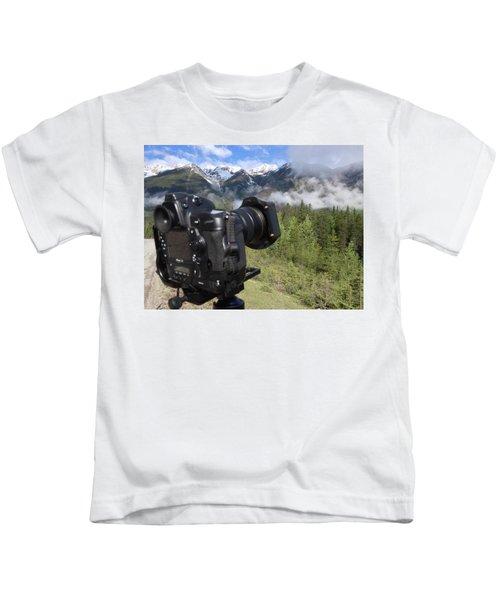 Camera Mountain Kids T-Shirt