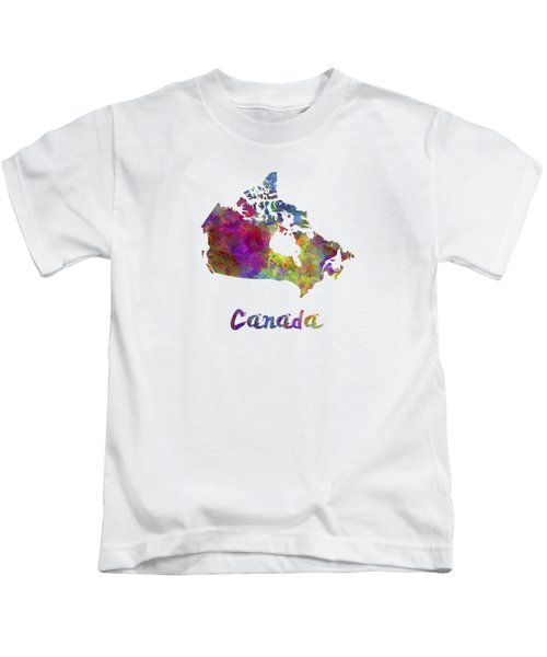 Canada In Watercolor Kids T-Shirt
