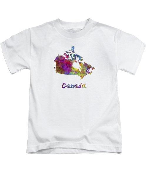 Canada In Watercolor Kids T-Shirt