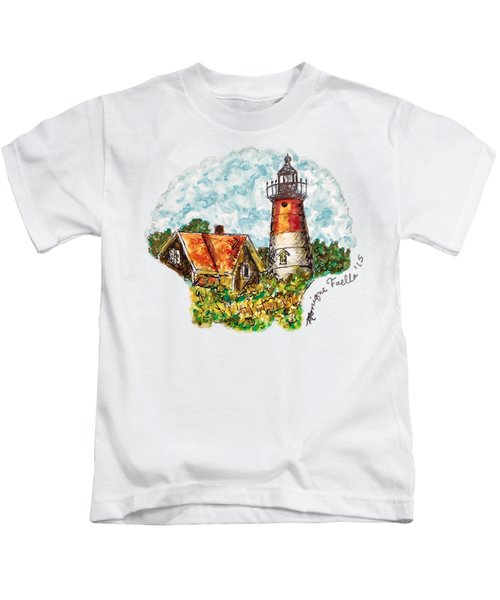 Cape Cod Lighthouse Kids T-Shirt