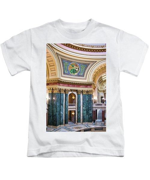 Capitol Rotunda -madison - Wisconsin Kids T-Shirt