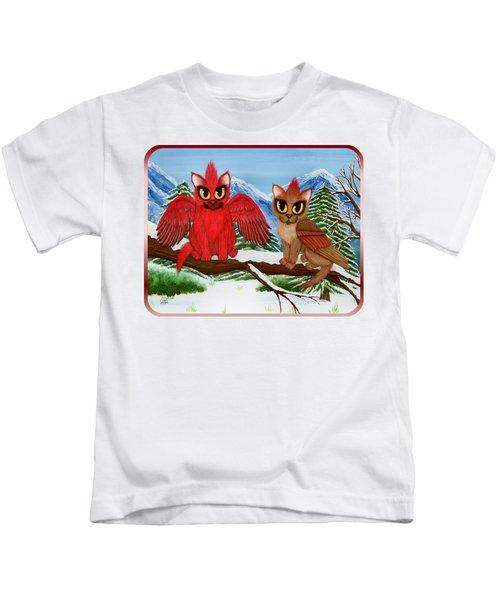Cardinal Cats Kids T-Shirt