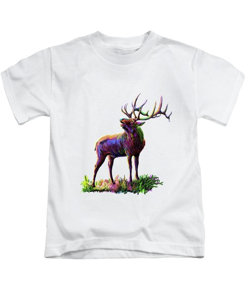 Colorful Caribou Kids T-Shirt