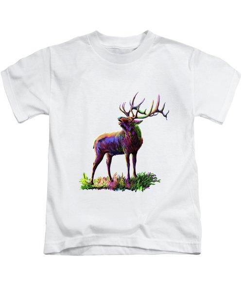 Colorful Caribou Kids T-Shirt