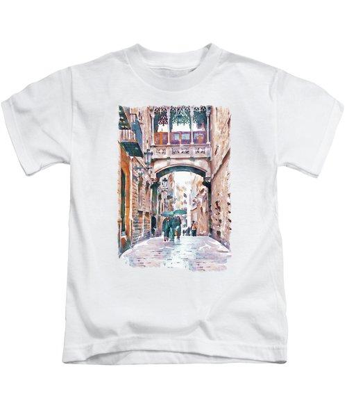 Carrer Del Bisbe - Barcelona Kids T-Shirt