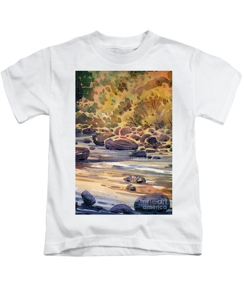 Carson River In Autumn Kids T-Shirt