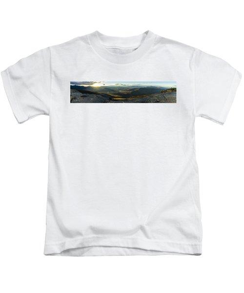 Cascade Mountain Sunset Kids T-Shirt