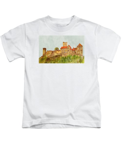Castle Hardegg Kids T-Shirt by Angeles M Pomata