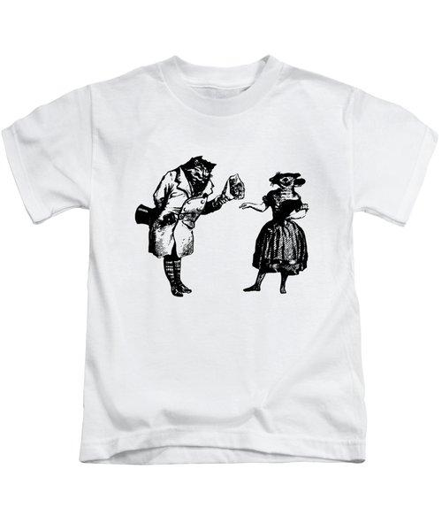 Cat And Mouse Grandville Transparent Background Kids T-Shirt