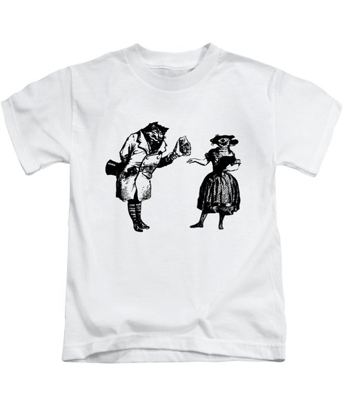 Cat And Mouse Grandville Transparent Background Kids T-Shirt