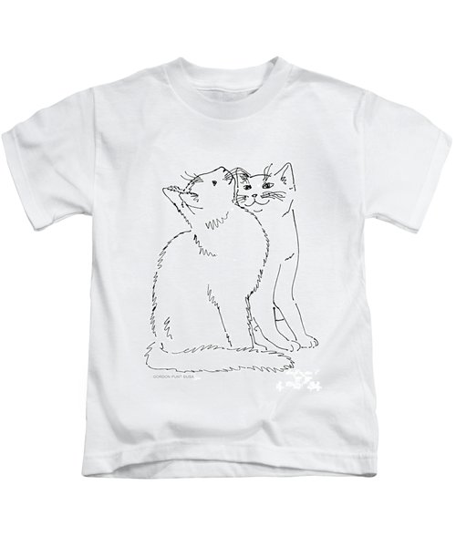 Cat-art-curious Kids T-Shirt