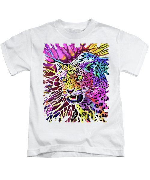 Cat Beauty Kids T-Shirt by Anthony Mwangi
