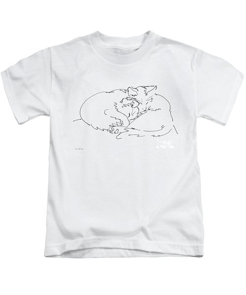Cat Drawings 2 Kids T-Shirt