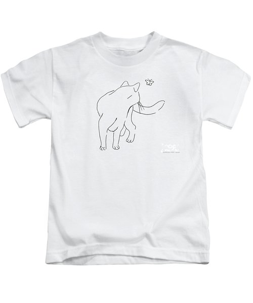 Cat-drawings-black-white-2 Kids T-Shirt
