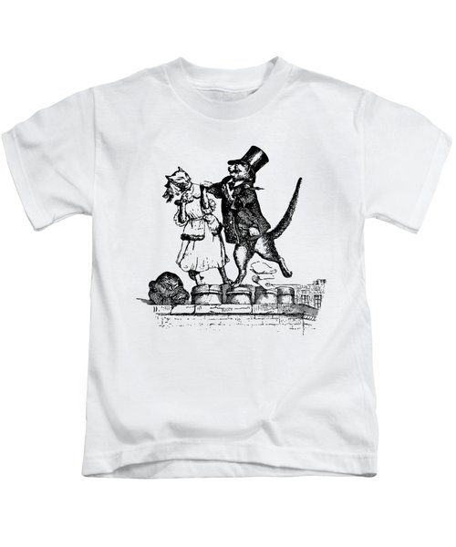 Cat Love Grandville Transparent Background Kids T-Shirt