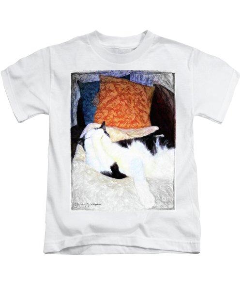 Cat Nap - Zen And The Art Of Washing Kids T-Shirt
