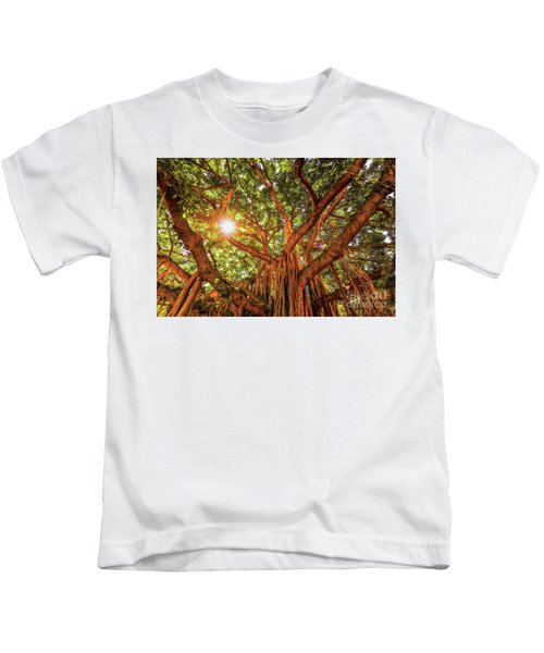 Catch A Sunbeam Under The Banyan Tree Kids T-Shirt