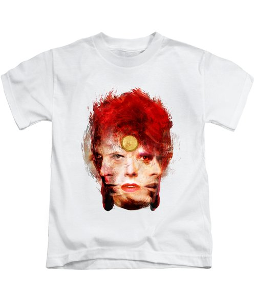 Ch Ch Changes David Bowie Portrait Kids T-Shirt by Big Fat Arts